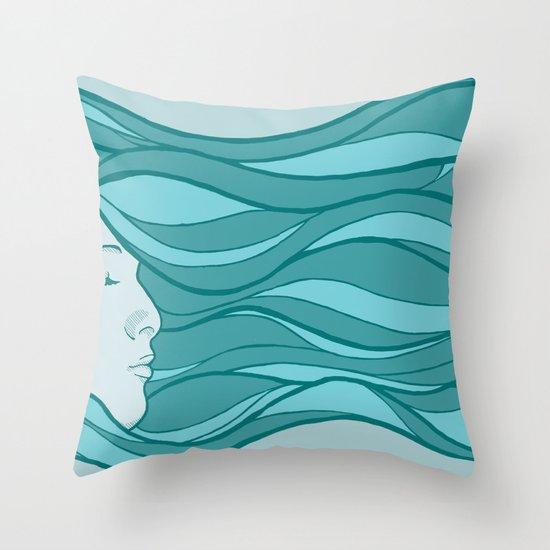 Deep Under Water Throw Pillow