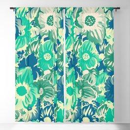 Flowers - Acapulco (Green), Medium Aquamarine, Surf Crest, Summer Green Blackout Curtain