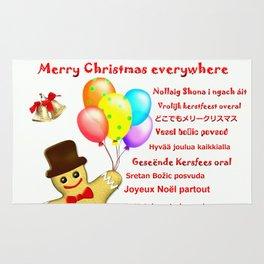 Merry Christmas everywhere Rug
