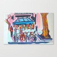 barcelona Canvas Prints featuring Barcelona by AdaKlein