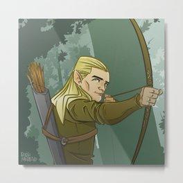 Archer Elf Metal Print