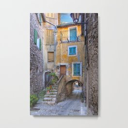 A back alley in Eze France Metal Print