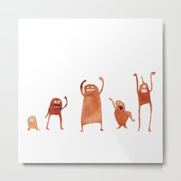 Monster Dance Party Metal Print