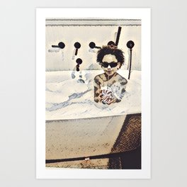 Happiness of a Mixologist  Art Print