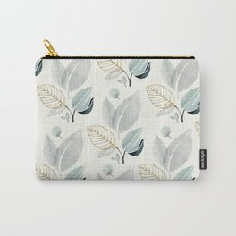 Sage and Such II - Watercolor Greenery Pattern Carry-All Pouch