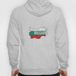Bulgaria Patriotic Bulgarian Flag Map Symbol Nationalism Patriosm Hoody
