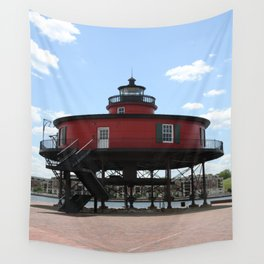 Seven Foot Knoll Lighthouse Wall Tapestry