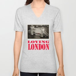 Loving London Unisex V-Neck