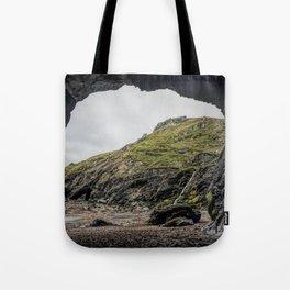 Merlins cove tintagel Tote Bag