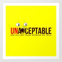 lemongrab Art Prints featuring UNACCEPTABLE by robin