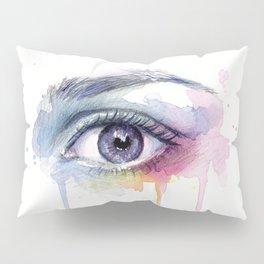 Colorful Eye Dripping Rainbow Pillow Sham