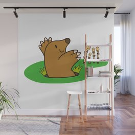 a Mole from the ground greets horsetail Wall Mural