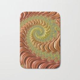 Bronze Twist - Fractal Art Bath Mat