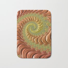 Bronze Twist - Fractal Art Bath Mat