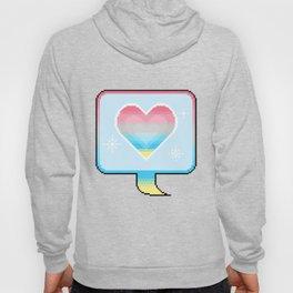 Genderflux Pride Heart Speech Bubble Hoody