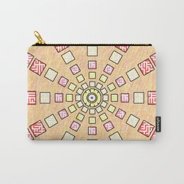 Ethnic wheel in pink Carry-All Pouch