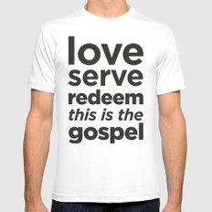 The Gospel Mens Fitted Tee White MEDIUM