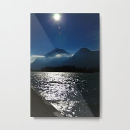 Alps at the Inn Metal Print