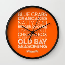 Baltimore — Delicious City Prints Wall Clock