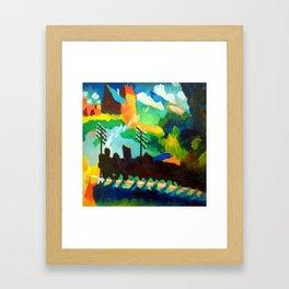 Wassily Kandinsky Railroad at Murnau Framed Art Print