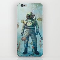 fish iPhone & iPod Skins featuring Deep Sea Garden  by Terry Fan