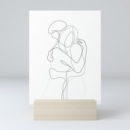 Lovers - Minimal Line Drawing Mini Art Print