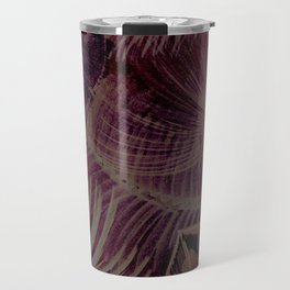 muted lilac beige tropical leaves design Travel Mug