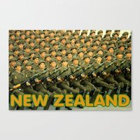 new zealand Canvas Prints featuring New Zealand by Tyler Hines