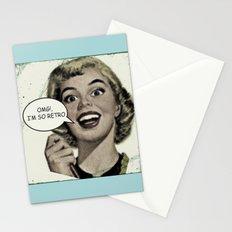OMG!, I'm so Retro Stationery Cards
