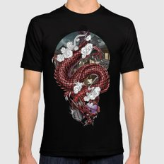 Japanese Dragon 竜 LARGE Mens Fitted Tee Black