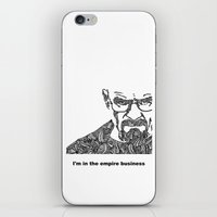 walter white iPhone & iPod Skins featuring Walter White by christoph_loves_drawing