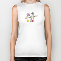 woodstock Biker Tanks featuring Woodstock Garden by Michele Baker