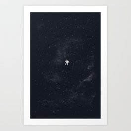 Gravity - Dark Blue Art Print