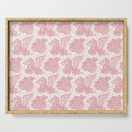 Pegasus Pattern Dusty Rose Serving Tray