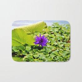 Tropical Purple Flower Bath Mat