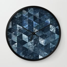 Abstract Geometric Background #2 Wall Clock