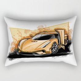 Regera (Orange) Rectangular Pillow