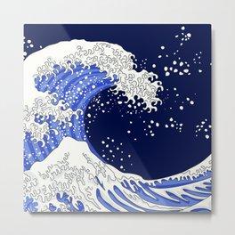 Great Blue Wave Metal Print