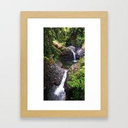 O'heo Gulch Pools Framed Art Print