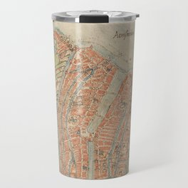 Vintage map of Amsterdam (1560) Travel Mug