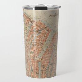 Vintage map of Amsterdam (1560) Travel Mug