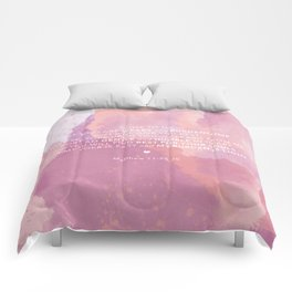 Come To Me | Pink Watercolor Reverse (for Lyndsie Brooker) Comforters