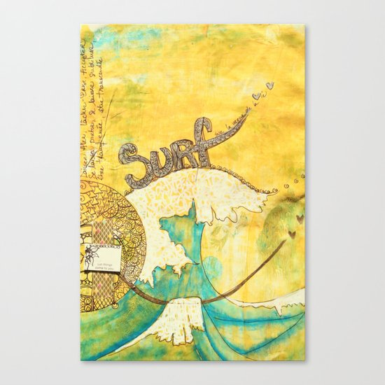 Surf avec la VIE Canvas Print