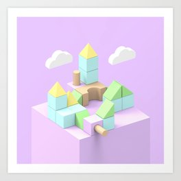 Building Blocks Art Print