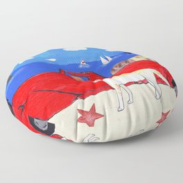 The Salty Dogs Floor Pillow
