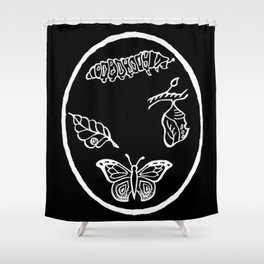 Butterfly Life Cycle Illustration Shower Curtain