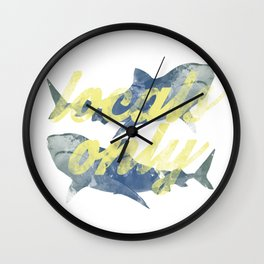 Locals Only Watercolor Wall Clock