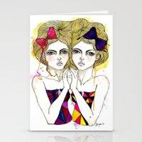 gemini Stationery Cards featuring Gemini by D.U.R.A