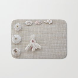 Seashells and urchins design Bath Mat