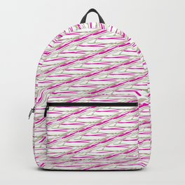 Barb Wire Pink Pattern Backpack